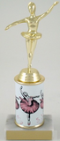 Ballerina Trophy with Custom Round Column-Trophies-Schoppy's Since 1921