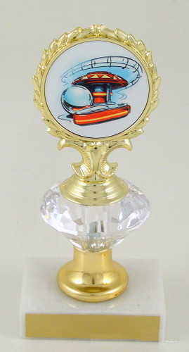 Pinball Logo Diamond Riser Trophy Small