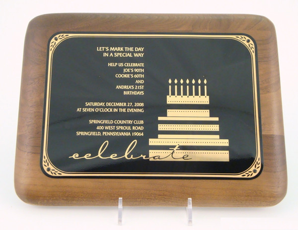 "5"" x 7"" Wood Invitation Plaque"