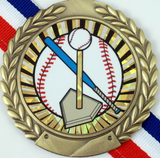 T-Ball Medal on Red, White & Blue Ribbon-Medals-Schoppy's Since 1921