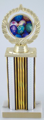 "Easter Logo on 6"" Wide Column Trophy-Trophies-Schoppy's Since 1921"