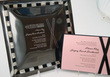 Black and White Pearl Inlay Invitation Tray-Gift-Schoppy's Since 1921