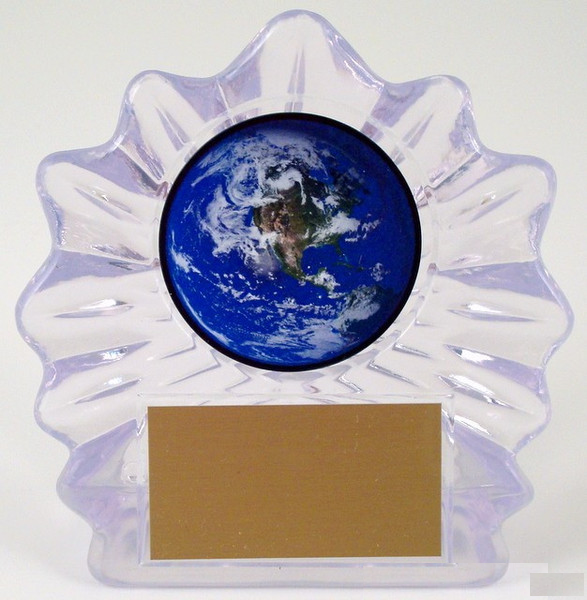 Small Shell Trophy with Earth Day Logo