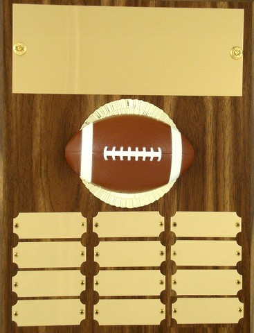 Perpetual Plaque with Football Figure - 12 plate - 9 x 12