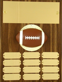 Perpetual Plaque with Football Figure - 12 plate - 9 x 12-Plaque-Schoppy's Since 1921