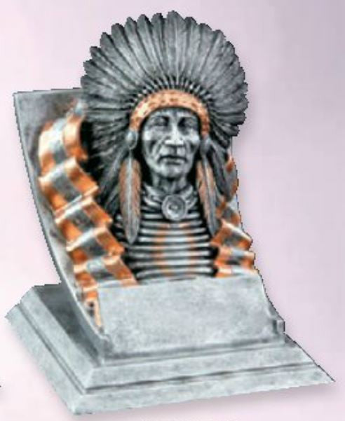 Indian Spirit Mascot Resin Trophy