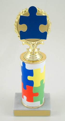 Autism Awareness Original Metal Roll Column-Trophies-Schoppy's Since 1921