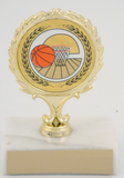 Mylar Holder Basketball Trophy on Marble Base-Trophies-Schoppy's Since 1921