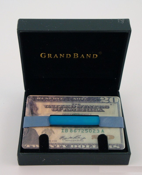 Grand Band Stainless Steel Blue-Money Clip-Schoppy's Since 1921