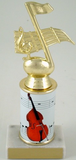 Stand-Up Bass Trophy with Custom Round Column-Trophies-Schoppy's Since 1921