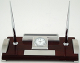 Leeber Desk Clock Card Holder-Clock-Schoppy's Since 1921