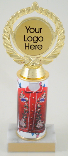 Holiday Ugly Sweater Logo Trophy