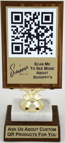QR Code Display-Sign-Schoppy's Since 1921