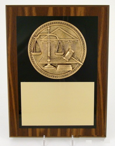 "Scales of Justice Plaque 9"" x 12"""