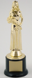 Beauty Queen Trophy on Round Base Small-Trophies-Schoppy's Since 1921