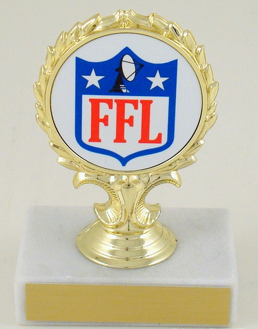Fantasy Football League Custom Logo Trophy - Small-Trophies-Schoppy's Since 1921