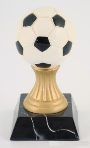 Soccer Trophy on Pedistal Base