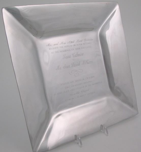 Silver Invitation Tray
