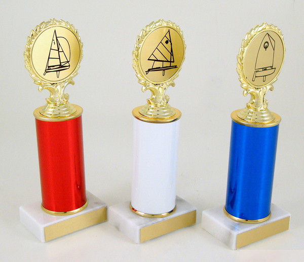 Sail Boat Logo Original Metall Roll Column Trophy