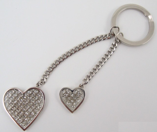 Glitter Galore Double Heart Key Chain-Key Chain-Schoppy's Since 1921