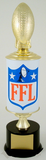 Fantasy Football League Football Trophy on Original Metal 'Oil Can' Column-Trophies-Schoppy's Since 1921