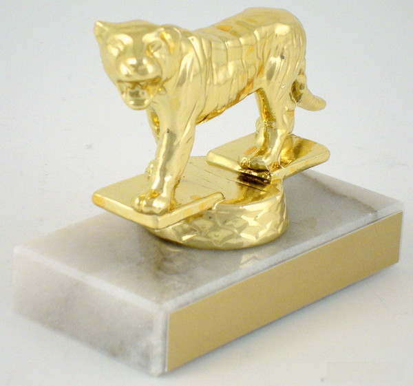 Tiger Dye Cast Trophy on Genuine Marble Base