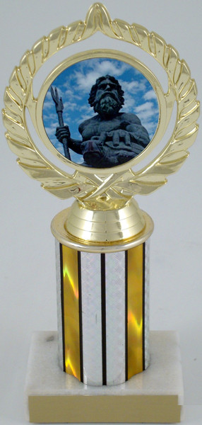 "King Neptune Logo on 3"" Column-Trophies-Schoppy's Since 1921"