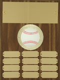 Perpetual Plaque with Baseball Figure - 12 plate - 9 x 12-Plaque-Schoppy's Since 1921