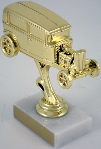 Open Hood Hot Rod Trophy on Marble Base-Trophies-Schoppy's Since 1921