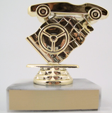 Pinewood Derby Trophy with Flag-Trophies-Schoppy's Since 1921