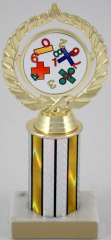 Math Logo on Round Column-Trophies-Schoppy's Since 1921