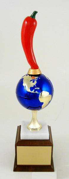 World's Greatest Chili Pepper Trophy on Wood Base-Trophies-Schoppy's Since 1921