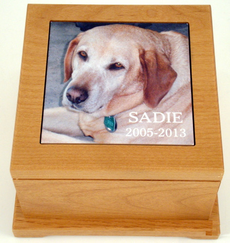 Pet Urn - Large with Photo Tile-Box-Schoppy's Since 1921