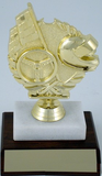 Wreath Racing on Marble Base-Trophies-Schoppy's Since 1921