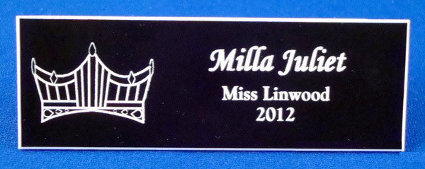 Pageant Crown Logo Badge-Name Tag-Schoppy's Since 1921