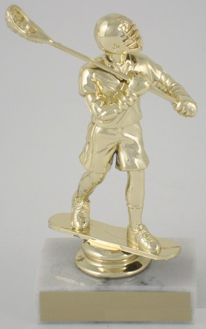 Lacrosse Trophy On Marble Base