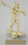 Lacrosse Trophy On Marble Base-Trophies-Schoppy's Since 1921