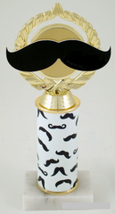 Mustache Trophy on Original Metal Roll Column-Trophies-Schoppy's Since 1921