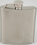 Metal 6 oz Flask w/Eng Plate-Flask-Schoppy's Since 1921
