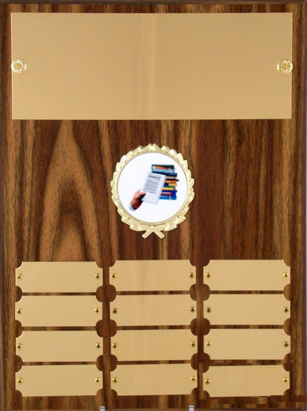 Perpetual Plaque with Kindle Logo - 12 plate - 9 x 12