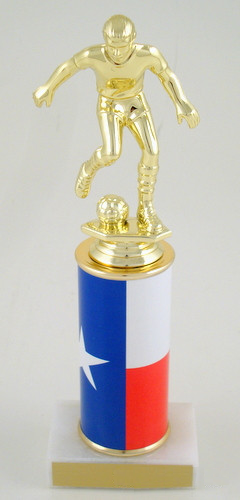 Texas Soccer Original Metal Roll Column-Trophies-Schoppy's Since 1921