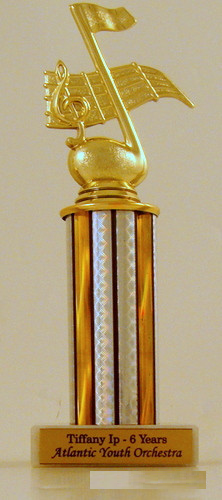 Music Note Column Trophy on Marble Base-Trophies-Schoppy's Since 1921