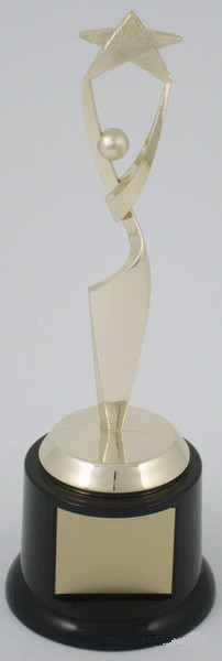 Reach for the Stars on Black Round Base - Small-Trophies-Schoppy's Since 1921