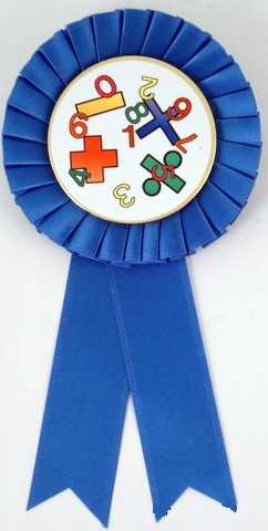 Small Rosette Ribbons - Math Logo-Medals-Schoppy's Since 1921