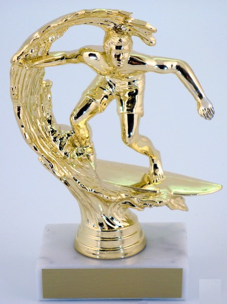 Surfer Trophy on 2 x 3 marble base-Trophies-Schoppy's Since 1921