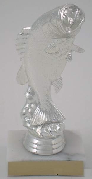 Large Mouth Bass Trophy, Silver