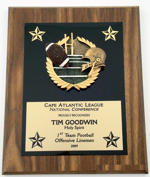 Football Plaque 8 x 10
