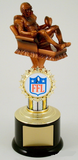 Recliner Fantasy Football Trophy on Black Round Base-Trophies-Schoppy's Since 1921