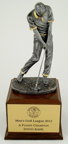 Fairway Wood Trophy on Walnut Base