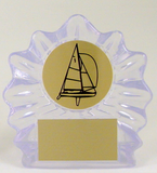 Sail Boat Logo Small Shell Acrylic-Trophies-Schoppy's Since 1921